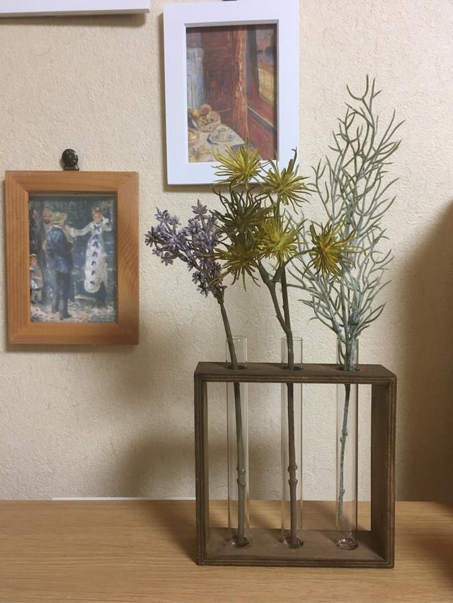 試験管の花達